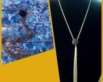 Denim Inspired Chain Necklace