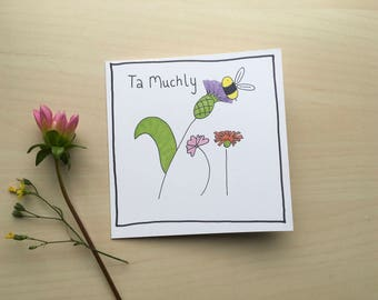 Thankyou Illustrated Greetings Card