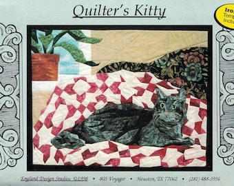 Quilter's Kitty Piecing Pattern and Fabric Kit