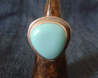 Fabulous Mexican Silver and Turquoise Statement Ring