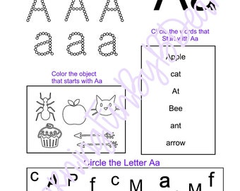A-F Letter Recognition, A-F Tracing
