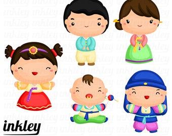 korean family clipart korean family clip art korean family rh etsy com clipart korean flag clipart korean girl