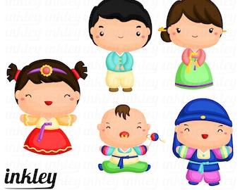 korean family clipart korean family clip art korean family rh etsy com clipart korean child clipart korean boy