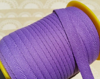 """Purple Twill Tape Trim - Sewing Bunting Shipping Packaging - 3/8"""" Wide - 10 Yards"""