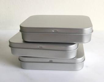 150ml Metal Tins, Blank Tin Boxes, Small DIY Storange Box, Poker Case, Playing Card Box, DIY Container, Small Organizer, 50 Tin Boxes