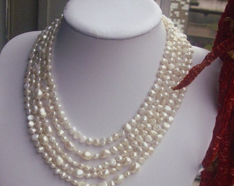 Long Pearl Necklace,100 Inches 6-12MM ivory Freshwater Pearl Necklace ,Baroque Pearl Neckalce, pearl long necklace,real pearl necklace