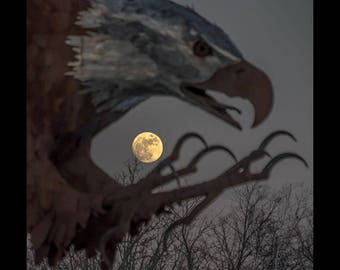 Snow Moon Rising - special limited edition 8 x 10 silk finish
