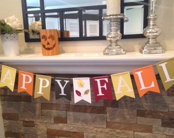 Happy Fall Home Decor or Photo Prop Banner