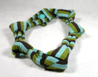 knotted necklace - stripes