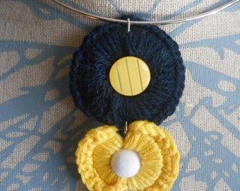 Crocheted Choker trio of color