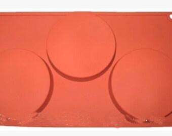 3-hole, big round, silicone mold, fondant cake, chocolate, baking tools, pudding mold, jelly mold