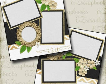 THE WEDDING - Five - 2 Premade Scrapbook Pages - EZ Layout 661