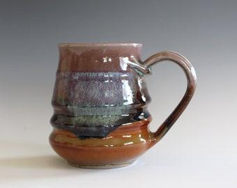 Pottery Coffee Mug, 13 oz, unique coffee mug, handmade cup, handthrown mug, stoneware mug, wheel thrown pottery mug, ceramics and pottery
