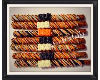 Halloween BOO Chcolate Covered Pretzels - Halloween Pretzel favors