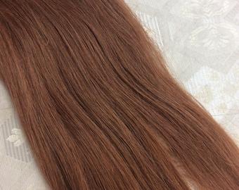 "Light auburn  (30)  100% human hair clip in extensions   14""  18""  20"""