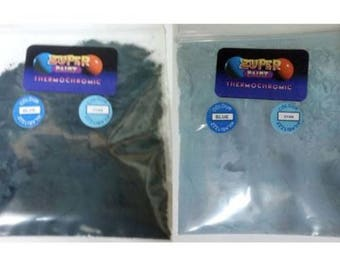 Thermochromic Temperature Colour Changing Powder 31c Dark Black Blue to Cyan Blu