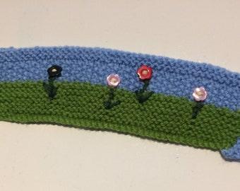 Hand Knitted 'Mug Hug' - Garden Theme