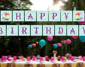 Th Little Mermaid Birthday Banner / Baby Princess Ariel Birthday Banner / Ariel Birthday Banner / Mermaid Banner / Instant Download