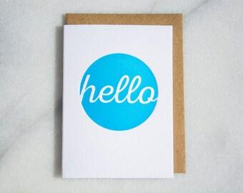 Mini Hello Letterpress Card