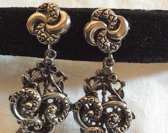 Vintage Pot Metal Screw Back Earrings