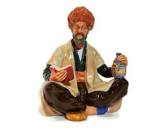 Omar Khayyam Royal Doulton Bone china Figurine HN 2247 Islamic scholar, Mathematician, Poet, Made in England, Retired collectible figurine