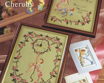 Cherubs Counted Cross Stitch Chart Pattern DMC