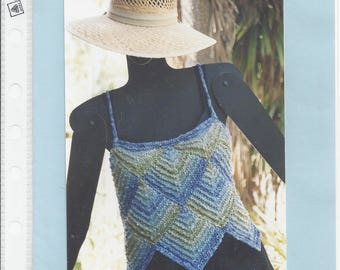 Just One More Row Watercolor Camisole Knitting Pattern by Jill Vosburg