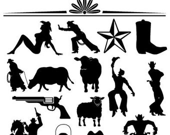 Western Clip Art Western Clipart Personal and Commercial Use