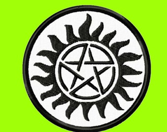 Supernatural Anti-Possession Embroidered Cloth Iron On Patch