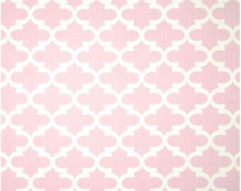 1 Yard Light Pink and White Geometric Fabric - Premier Prints Bella Pink and White Fulton Fabric ONE YARD light pink baby pink