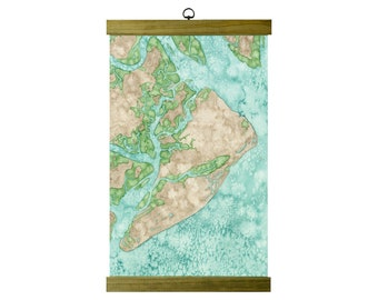 Hilton Head Island Coastal Art Map