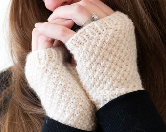 Fingerless Gloves Knitting Pattern - Wrist Warmers Knitting Pattern - a set of INSTRUCTIONS to knit the gloves - LOVE