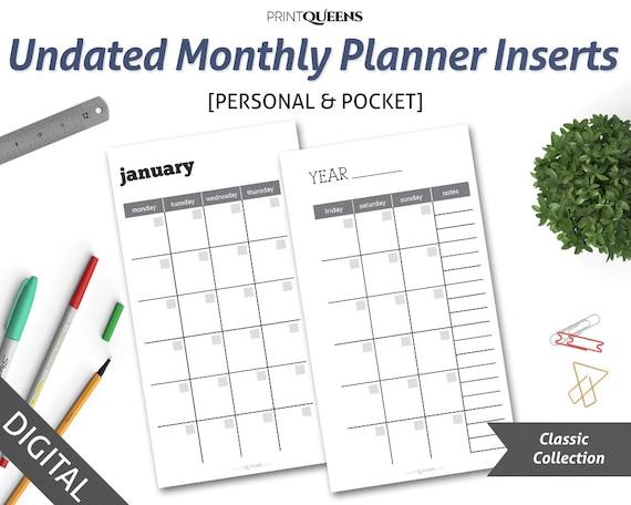 printable pocket calendar 2018