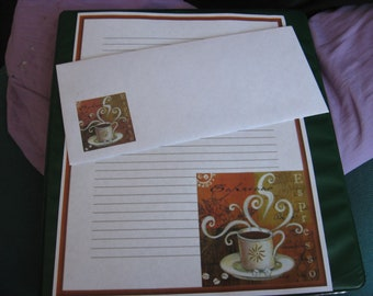 Espresso writing paper with envelopes