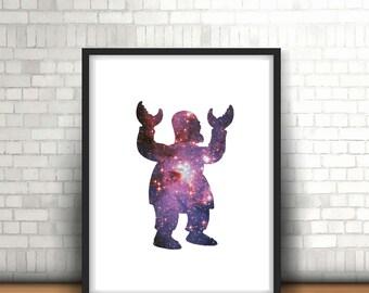 Zoidberg Futurama Space Galaxy Nebula Inspired Art Print