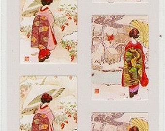 Geisha Japanese Stickers - Reference U5753-54