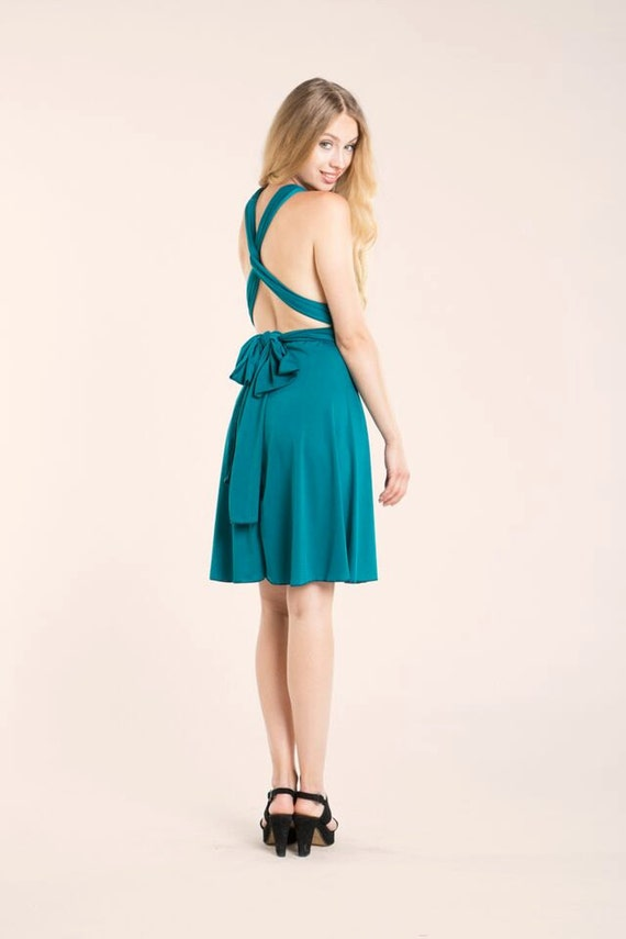 Teal Bridesmaid Dress Turquoise Short Party Dress Short Teal