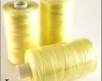 Box of 12! Lemon 1000 Yard Polyester Thread Spools! 120 Gauge!