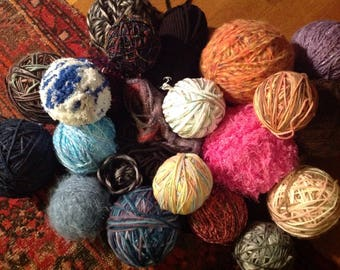 LOT of modern and vintage yarn synthetic fiber knitting