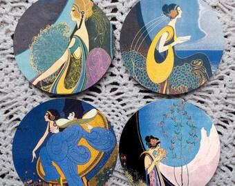 Irresistible -- Mavis Perfume Vintage Advertising Mousepad Coaster Set