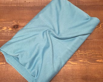Seafoam, French Terry Solid. Knit Fabric