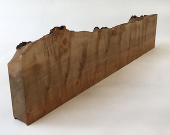 Maple Live Edge Mantle - Fireplace Mantle - Shelf - Rustic - Natural