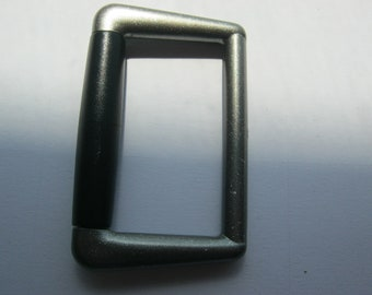 9 pieces of belt buckle without mandrel with roll, approx. 56/34 mm, footbridge approx. 42 mm, New, Button manufactory