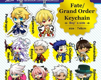 Fate/Grand Order Servant Acrylic Keychain Charms-Boy's side