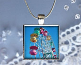 Pendant Necklace Carnival Ferris Wheel