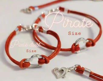 Heart Clasp Leather Bracelet