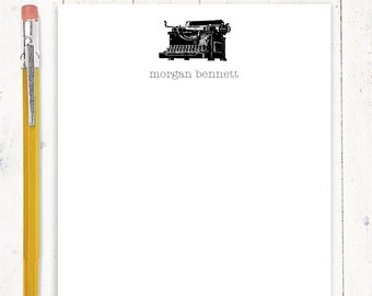 personalized notePAD - VINTAGE TYPEWRITER - stationery - stationary - antique typewriter - office notepad