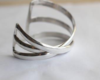 Sterling Silver Modernist Bracelet- Hand Crafted Bracelet