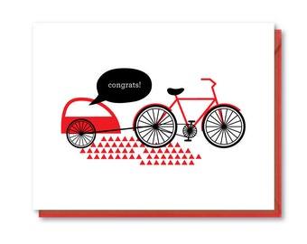 Baby Card - Blank Greeting Card - Baby Bike