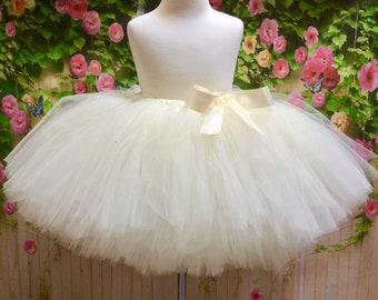 Ivory Tulle Skirt, Adult Ivory Tutu, Cream Tulle Skirt, Sewn Tutu, Beige Tutu, Bridesmaid Tutu, Sewn Tulle Skirt, Ivory Tutu, Adult Tutu